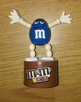 M&m's Blue Peanut Push Puppet Figure Used