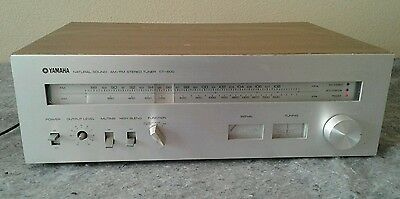 VINTAGE YAMAHA CT-600 STEREO TUNER Natural Sound AM/FM AS IS