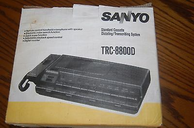 Sanyo TRC-8800D Cassette Recorder Dictating and Transcriber Complete System n BX