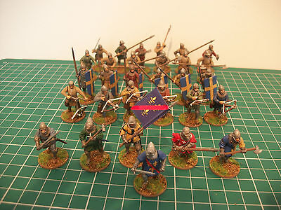 Painted 28mm Medieval french Hundred Years war perry miniatures