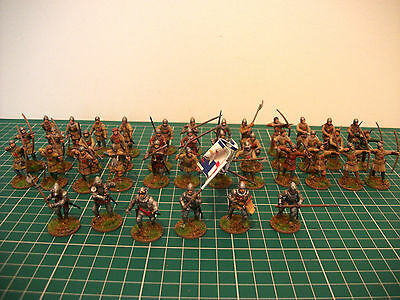 Painted 28mm lion Rampant Medieval English Army perry miniatures