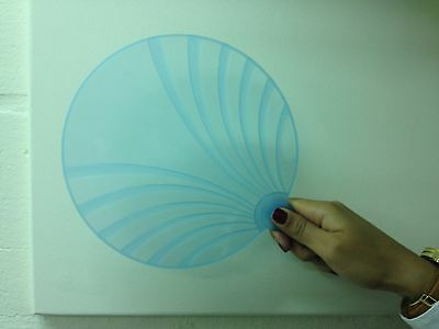 Holiday solid Light Blue Plastic Hand Fans X 2