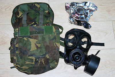 S10 British Army Gas Mask / Respirator With Extras