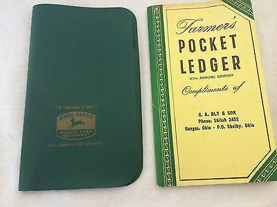 1954 John Deere Tractor Farmer's Pocket Ledger & Case Ganges Ohio