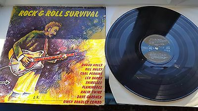 ROCK AND ROLL SURVIVAL 12 inch LP CORAL CPS88 LABEL RECORDS MIXED COMPILATION