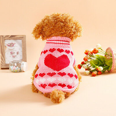 Small Dog Clothes Pet Winter Sweater Knitwear Puppy Clothing Warm Apparel Coat