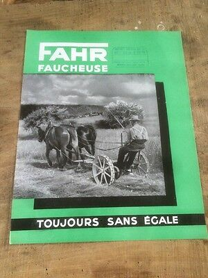 Prospectus Brochure Faucheuse  Fahr No Batteuse Tracteur Ih Claas Deutz