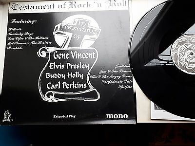 TESTAMENT OF ROCK N ROLL 12 inch LP DIABLO RECORDS MIXED COMPILATION