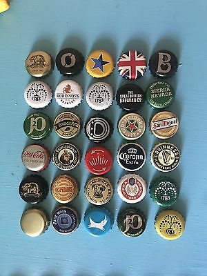 Mixed Beer Bottle Caps Set All Different Set 2 Of 6