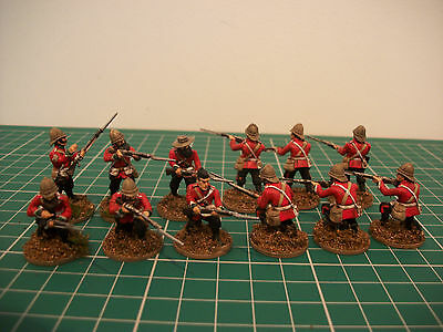 Painted 28mm Anglo Zulu War British infantry miniatures