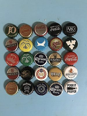 Mixed Beer Bottle Caps Set 3 Of 6. 25 Different Caps!