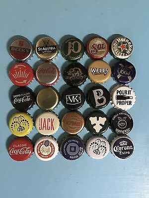 Mixed Beer Bottle Caps Set All Different Set 4 Of 6