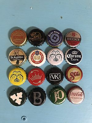 Mixed Beer Bottle Caps Set All Different Set 5 Of 6