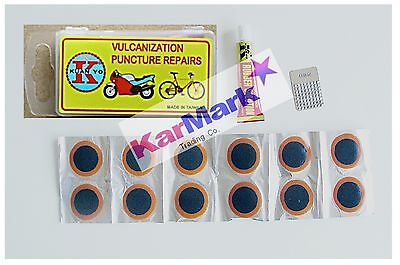 Puncture   repair  kit  with  12  x  25mm  round  patches  +    FREE   DELIVERY