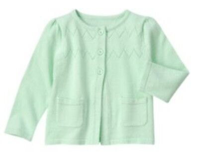 NWT Gymboree Blue Safari Mint Green Cardigan Sweater Baby Girls 12-18 Months