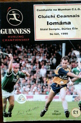 Limerick V Clare 9/7/1995 Gaa Munster Senior Hurling Final