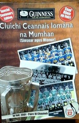 Limerick V Tipperary 1/7/2001 Gaa Munster Senior Hurling Final