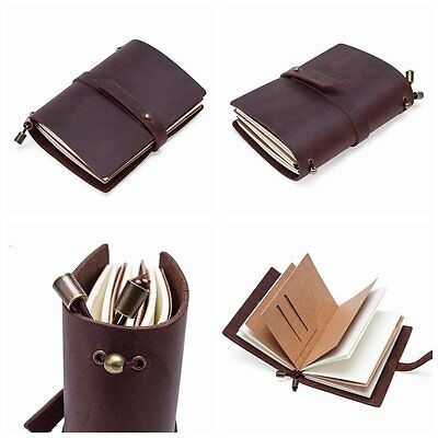 Hand Made Leather Hand Notebook Classic Journal Travel Diary Sketchbook Blank US