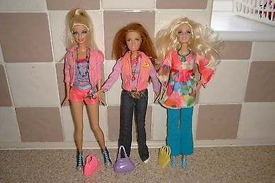 Barbie Dolls Dressed With Shoes Bags And Necklaces