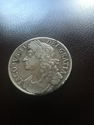 James 11 Crown 1686 Nice Details Rare