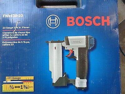 "Bosch Fns138-23 23 Gauge 1/2"" To 1-3/8"" Pin Nailer Nailgun"
