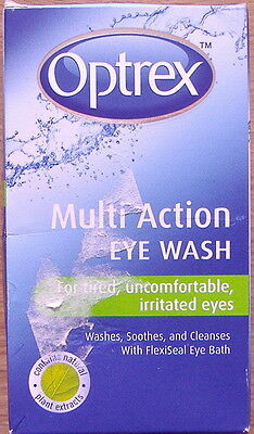 2 x 100ml Optrex Eye Wash for tired, uncomfortable, irritated eyes