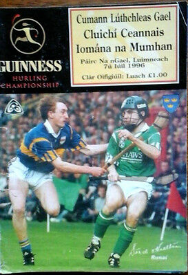 Limerick V Tipperary 7/7/1996 Gaa Munster Senior Hurling Final