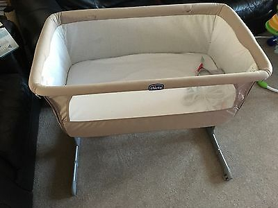 Chicco next2me Cot/Crib Next To Me Chicco Co Sleeper Baby Cot instructions & bag