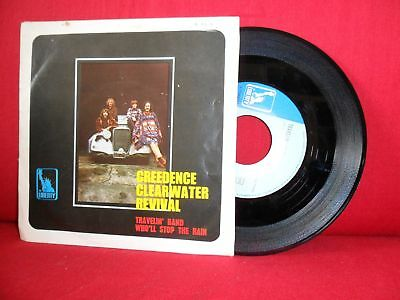 1970 CREEDENCE CLEARWATER REVIVAL Travelin Band 7/45 PORTUGAL RARE PS NMINT