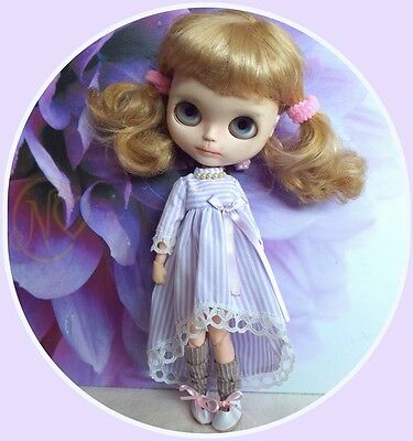 Victorian lilac dress for your 12inch Blythe doll