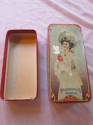 Vintage Woodworths Perfume Box with Color Lithograph Advertising lot S