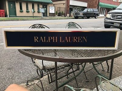 Polo Ralph Lauren Plaque Sign Display Advertising Point Of Purchase Double Sided