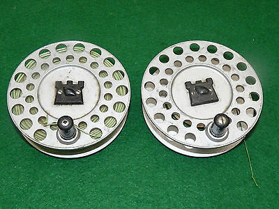 2 Hardy Viscount 140 spare spools for fly fishing reel both good