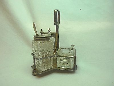 Vintage Silver Plated Cruet Set - R.R Sheffield