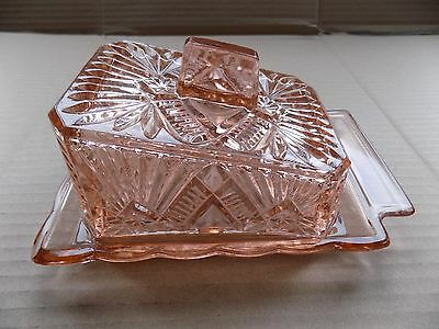 Vintage / Retro Glass Butter Dish 1950's / 60's