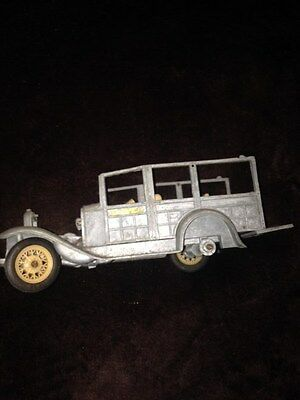 """Hubley toys-Vintage car #858-marked """"P Ranch""""-as is-use for parts or restore"""
