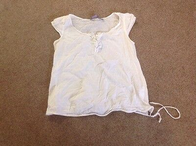 New Look white maternity top, size 12