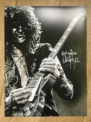 Jimmy Page Signed (Music) Led Zeppelin Authentic 16x12 Photo COA