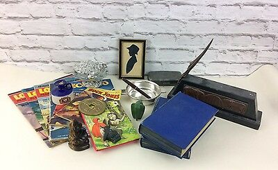 Mixed Antique Resale Collectible Lot To Include Pewter, Marble And Silver Plate.