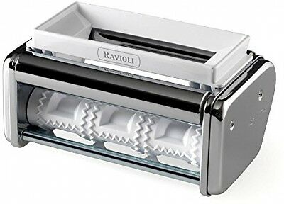 Marcato Atlas Stainless Steel 150 Ravioli Attachment, Silver