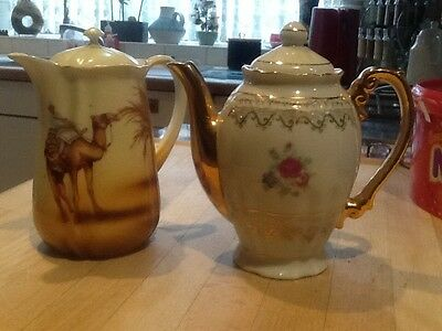 2 China Coffee/Hot Water Pots