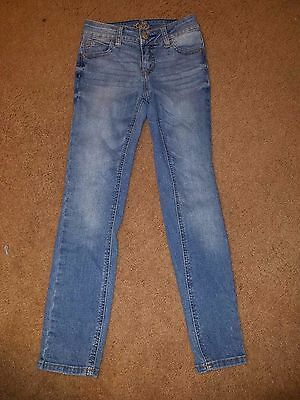 Justice Girls Jeans Super Skinny  Size 8  Simply Low  Medium Wash  A