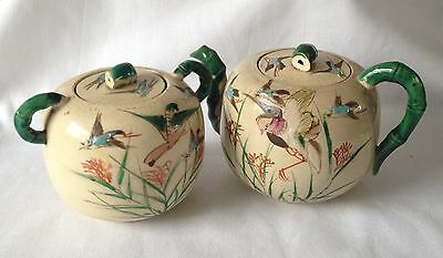 Oriental Teapot and Lidded Sugar Bowl