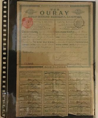 Great britain - The Ouray Gold Mining Company Ltd - London 1889
