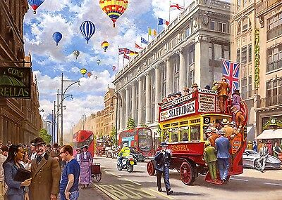 Oxford Street Then and Now Cross Stitch Chart