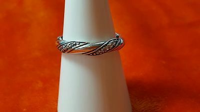 Pandora Ribbon of Love Ring.Sterling Silver  S925 ALE