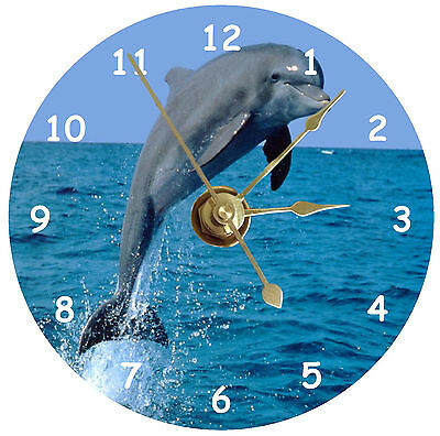 Dolphin jumping on a cd clock can be personalised