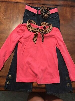 Gap Girls Size 4 Long Sleeve Shirt And Pants Outfit