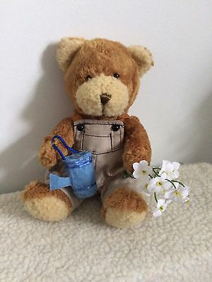 """8"""" Geoff The Gardener Bear From The Teddy Bear Collection"""