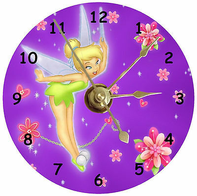 Tinkerbelle on a cd clock can be personalised